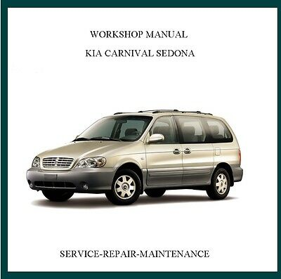 New Kia Carnival Sedona 2002-2006 Workshop Service Repair Manual