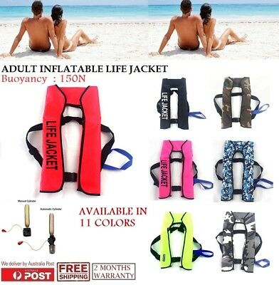 Adult Manual / Automatic Inflatable Life Jacket Inflation Survival Vest Buoyancy