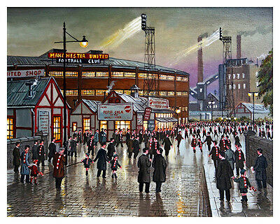 20in x 16in Art Print - Manchester United; Old Trafford, Fans Going To The Match