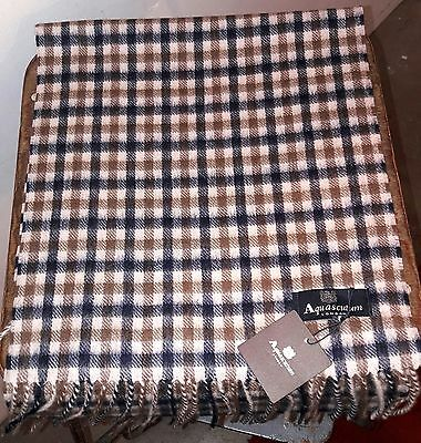 Aquascutum Cashmere Scarf In Classic House Check £116 Off Rrp!!!!!