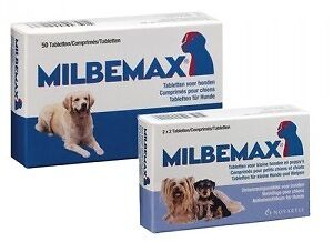 Milbemax Hond / Dog / Hund - 4 tablets - 4 pills - 5/25 kg