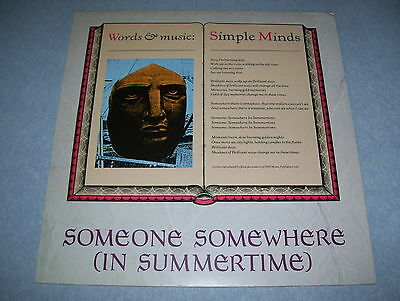 """Simple Minds - Someone Somewhere In The Summertime 12"""""""