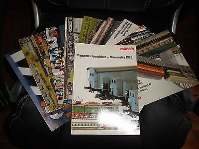 Marklin - Lot de catalogues 1986 1987 1988 1989 1990 - FF4