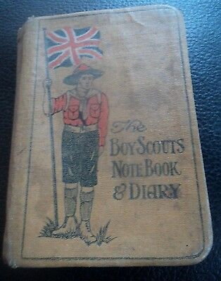 EARLY Rare Boy Scout Book - Letts's Notebook Diary 1916 James Taylor Bolton WW1