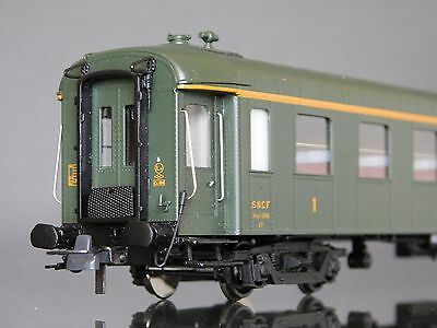 Lemaco Set # HO-115 SNCF Coffret voitures O.C.E.M. 1960s Green Riveted Coach