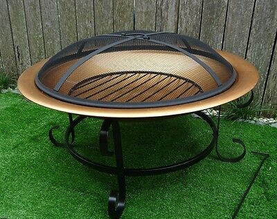Copper Finished Fire Pit - Camp Fire - Outdoor Fire Pit