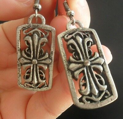 Tribal exotic chinese handmade miao silver earring (free S&H) N20