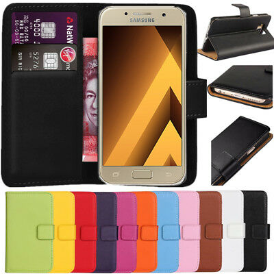 Premium Leather Flip Wallet Case Cover For Samsung Galaxy A5 2017 + Screen Guard