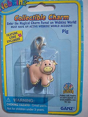 RARE WEBKINZ PINK PIG CHARM  New in Package w/ Code