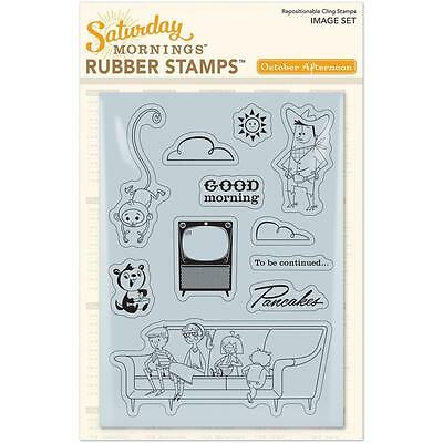 October Afternoon Saturday Mornings Rubber Stamps