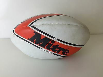 Vintage 80s Mitre Multiplex Rugby Ball - VGC - RARE