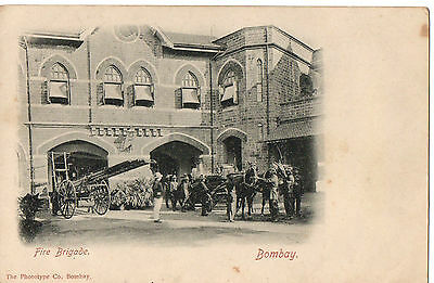 """Fire Brigade Bombay"" by The Phototype Co., Bombay, Postcard"