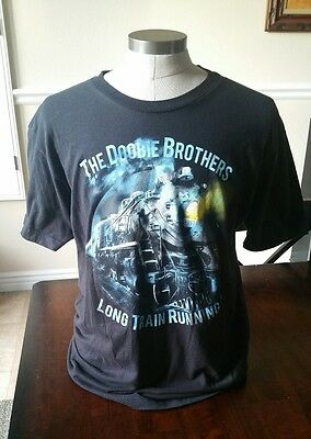 Doobie Brothers Long Train Running Concert Shirt - Size Large - Excellent Cond!