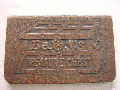 1929 Vintage BABYS TREASURE CHEST Bank BOOK Antique Moorish PEOPLES NATIONAL Mas