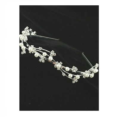 Silver Pearl and Crystal Holy Communion Tiara  New and Boxed