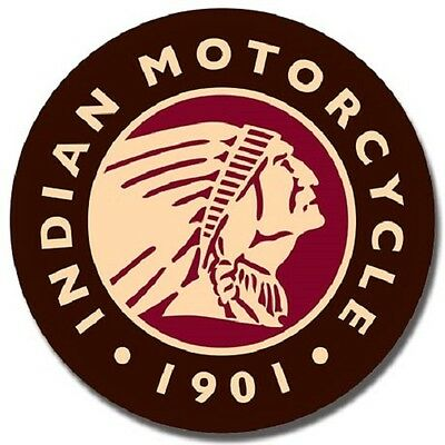 Indian Motorcycles Since 1901 Garage Service Distressed Decor Round Metal Sign