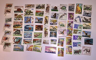 Topical Dinosaurs Stamp Lot 68x Large Pictorials Many OG Some Used Others CTO