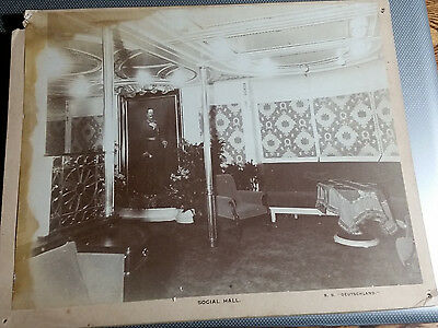 Vintage Cabinet Card Social Hall at The White House Washington DC Cudlip & Co.