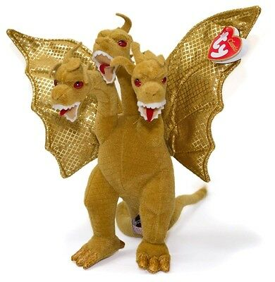 "Ty Classic Ghidorah Godzilla Dragon 9"" Japan Exclusive Beanie Babies Baby New"