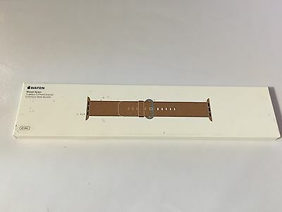 Genuine Official Apple Watch Woven Nylon Strap Toasted Coffee 42mm MNKE2ZM/A