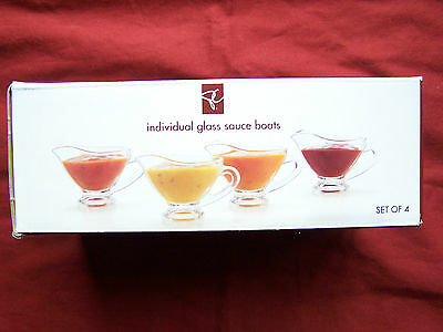 Individual Glass Sauce Boats (Set of 4), PC
