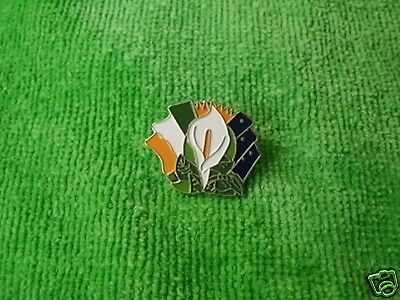 Irish Republican Easter Lily Tricolour, Starry Plough, Badge Pin New Release