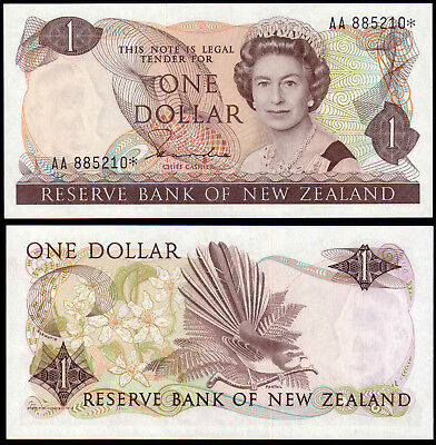 NEW ZEALAND 1 DOLLAR HARDIE (P169ar) QEII * REPLACEMENT UNC
