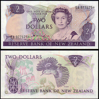 NEW ZEALAND 2 DOLLARS HARDIE (P170ar) QEII * REPLACEMENT AUNC