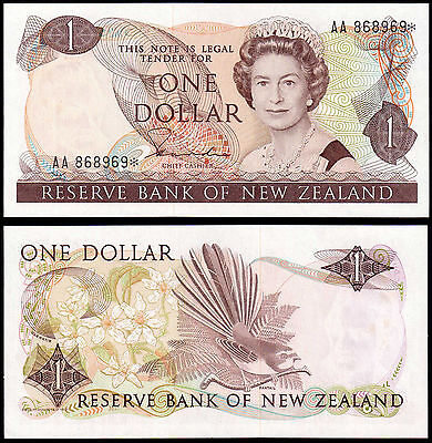 NEW ZEALAND 1 DOLLAR HARDIE (P169ar) QEII * REPLACEMENT AUNC