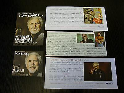Tom Jones live in Hong Kong 5 magazine clippings concert AD