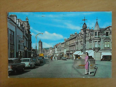 Old Postcard Of The High Street, Peebles