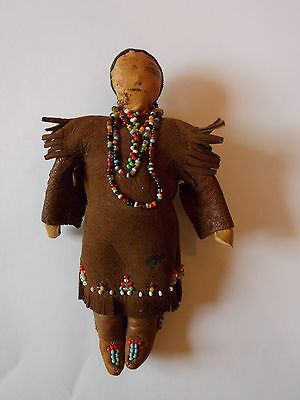 Antique Sioux Indian Doll, Beaded, Handmade, Native American