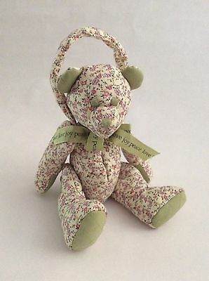 """BOYDS HOME pink purple green QUILTED POTPOURRI DOOR KNOB TEDDY BEAR 12"""" plush"""