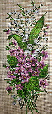 Tapestry Gobelin Needlepoint Kit Flowers printed canvas hand embroidery 225