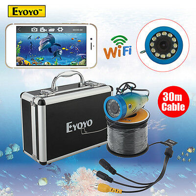 30M Fish Finder Underwater Fishing Video Camera WIFI Wireless Monitor Waterproof