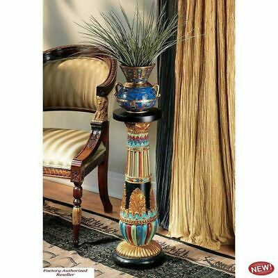 """Ancient Egyptian 18th Dynasty Regal Luxor Sculptural 26"""" Pedestal Plant Stand"""