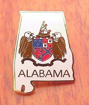 State Of Alabama United States Usa Twin Eagles Coat Of Arms Lapel Pin