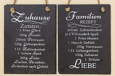 schiefer tafel schild rezept zuhause 20 cm eur 4 99 picclick de. Black Bedroom Furniture Sets. Home Design Ideas