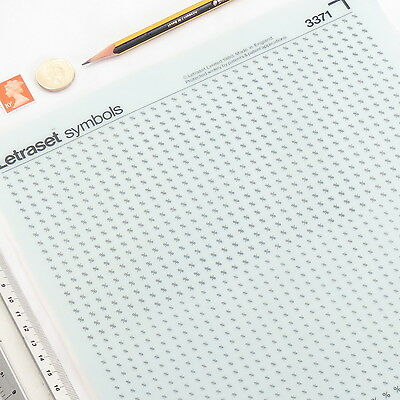 Letraset PERCENTAGE SIGNS Sheet:3371 3.5/2.5/2mm Rub On Dry Transfer Letters VGC