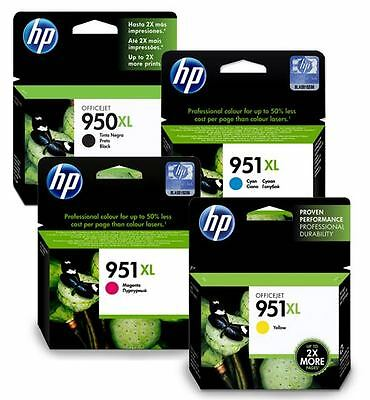 4 CARTUCHOS ORIGINAL HP 950XL/951XL - negro, color (cian, magenta, amarillo)