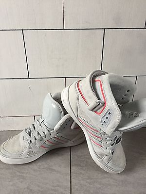 Womens Urban Adidas Originals Grey High Top Trainers Size Uk 4