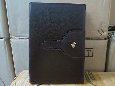 ♛ R0LEX ♛ Authentic Vintage watch leather holder wallet notepad #c