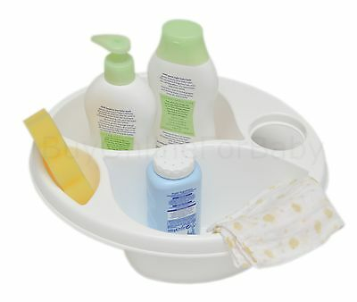 Baby Newborn Bath Bathing Top and Tail Wash Bowl White
