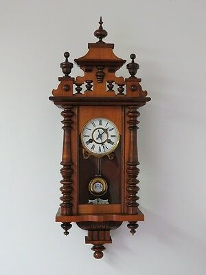 OLD ORYGINAL MINIATURE  WALL CLOCK FRIEDRICH MAUTHE at 1900  !!!
