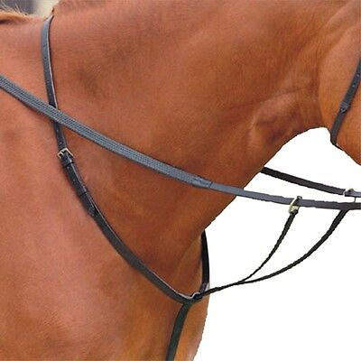 Quality GFS Full Size Leather Running Martingale