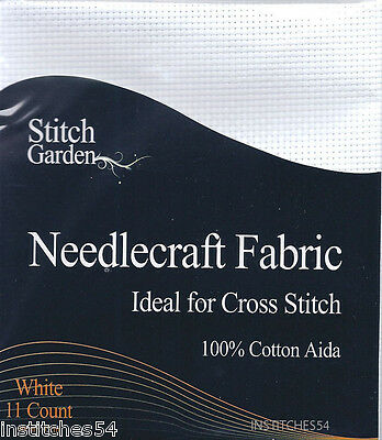 Stitch Garden 11 Count Aida For Cross Stitch White