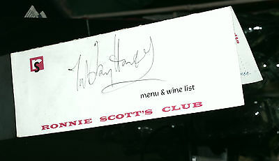 Ronnie Scott's Jazz Club Dinner Menu 1962 with Tubby Hayes autograph