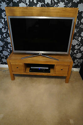 Solid Spanish Oak TV stand