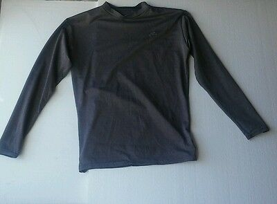 Starter Youth Large Dri-Star Base Layer Compression Gray Long Sleeve Shirt