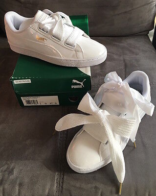 Sneakers Basket PUMA HEART Blanche Cara Delevingne Taille 39 NEUVE